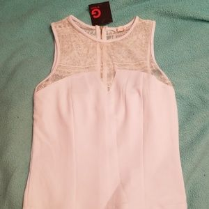 GUESS white lace bustier top